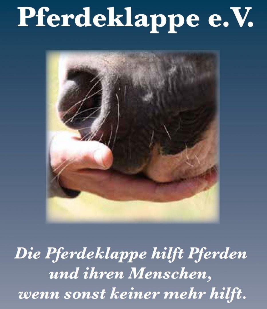 Bild Pferdeklappe mit Text